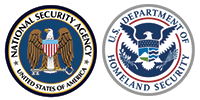 Nationsl Security Agency and Department of Homeland Security Logos