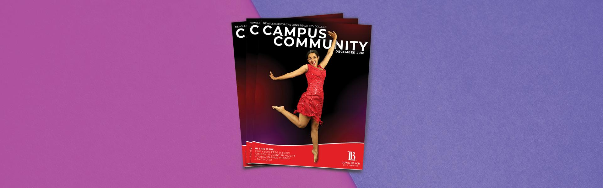 the cover of the Dec. 2018 Campus Community Newsletter