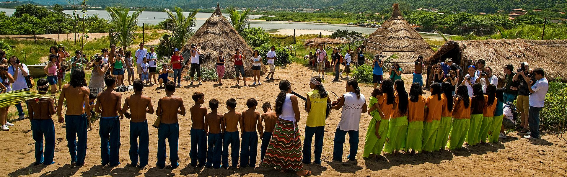 Tupi Guarani Indians lived in a village on the Camboninha beach in Niteroi.