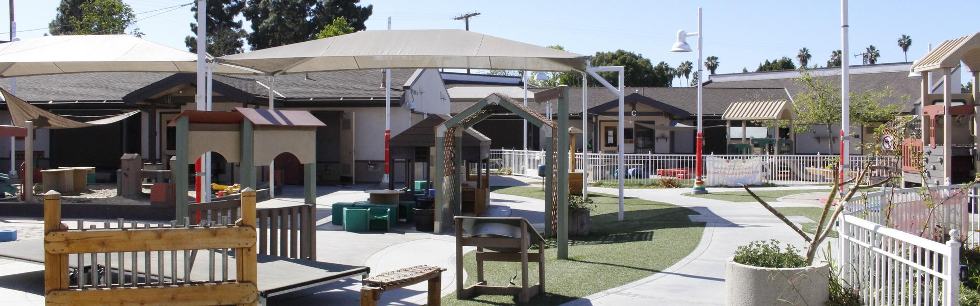 The playground inside the Child Development Center.