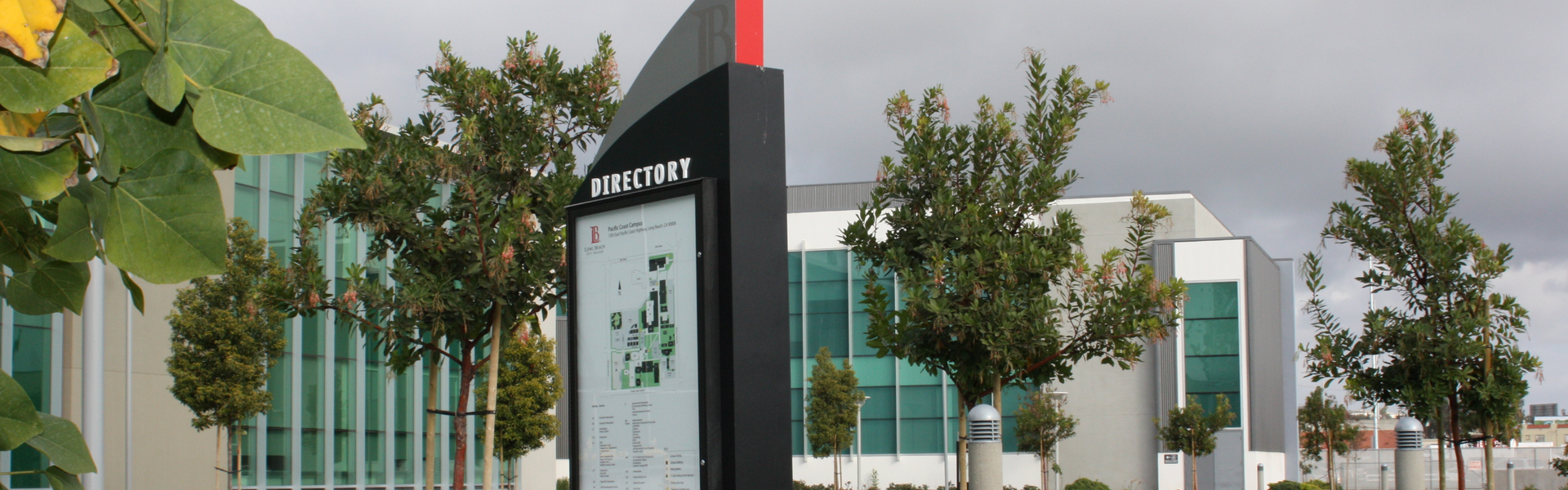A directory kiosk on the PCC campus.