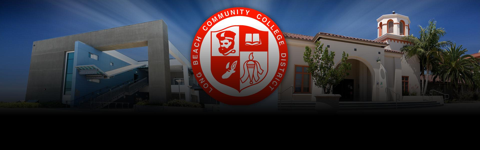 The LBCC seal and picture of the A Bldg.