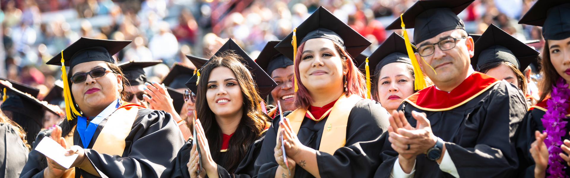 LBCC grads at the Commencement ceremony.
