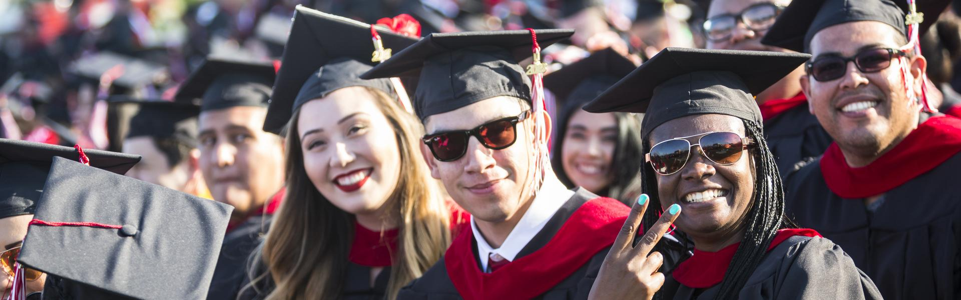 LBCC students at graduation ceremonies.