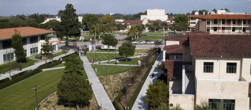 The South Quad at Long Beach City College.