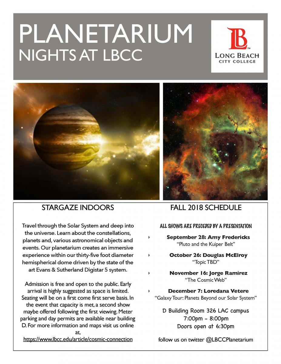 lbcc parking permit Planetarium Nights - Long Beach City College