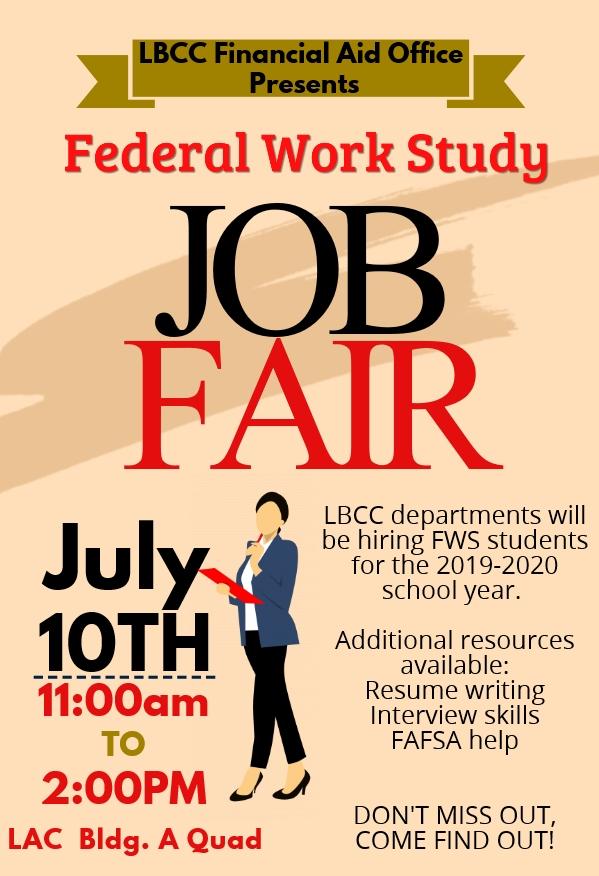 Lbcc Calendar 2020 2019 2020 Federal Work Study Job Fair   Long Beach City College