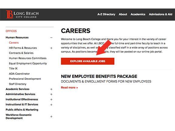 Job Interest Card Long Beach City College