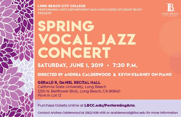 Spring Vocal Jazz Concert Flyer