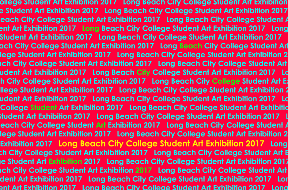 An image with the words Long Beach City College repeating.