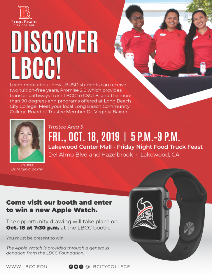 The flyer for Discover LBCC.