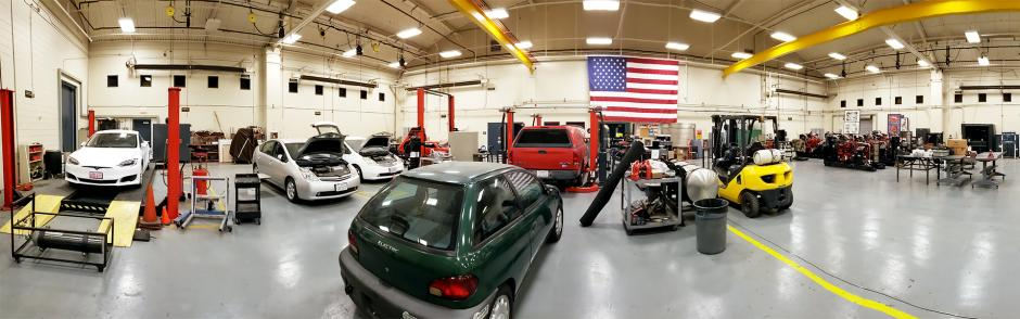 LBCC Advanced Transportation Program autoshop photo