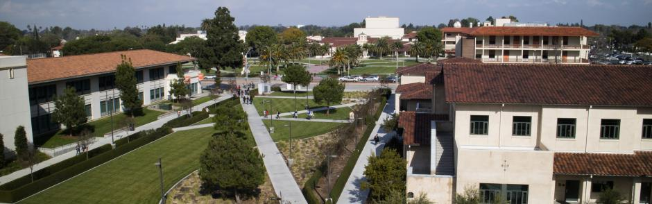 The south quad at the LBCC campus.