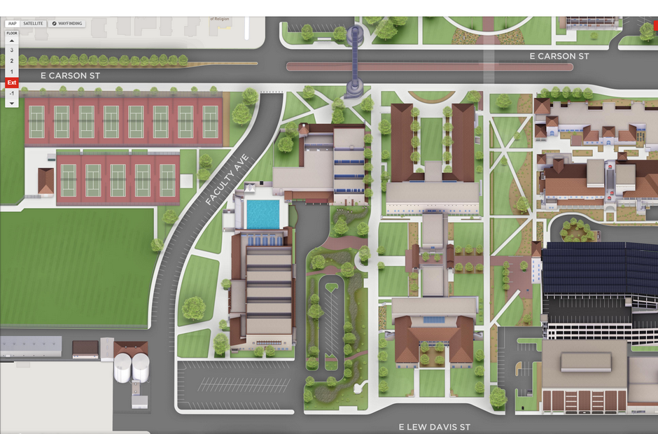 A virtual map of LBCC.