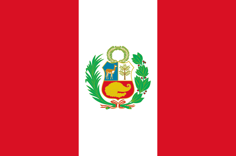 The flag pf Peru.