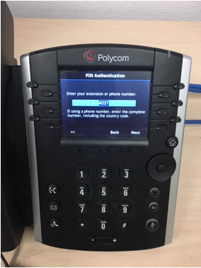 Polycom phone extension screen