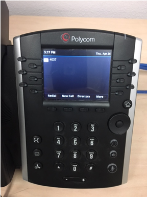 Polycom phone main screen