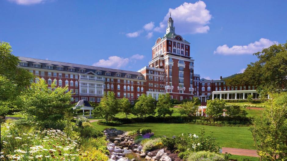 A view of the Omni Homestead Resort in Virginia