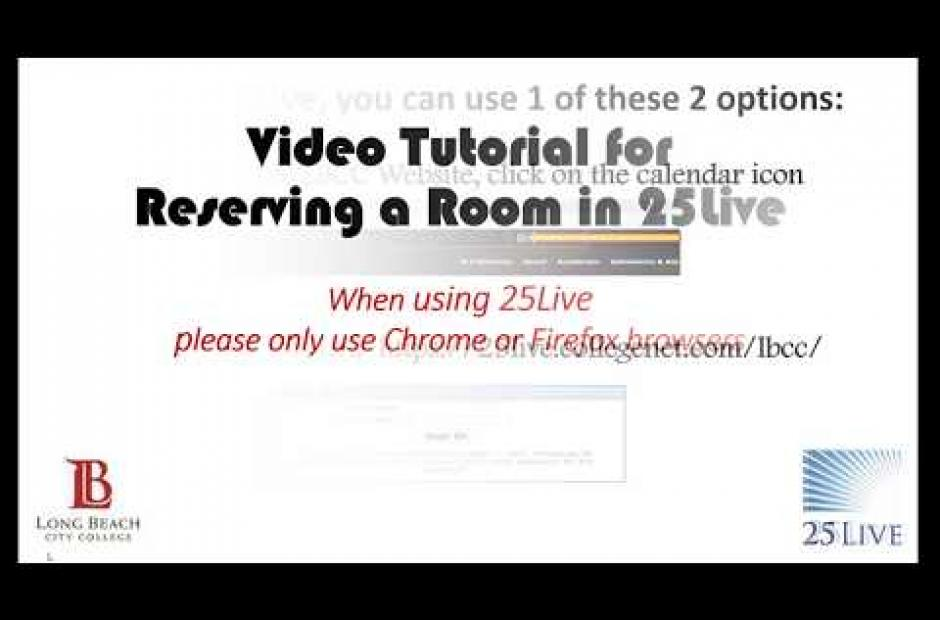 25Live Event Reservation Tutorial