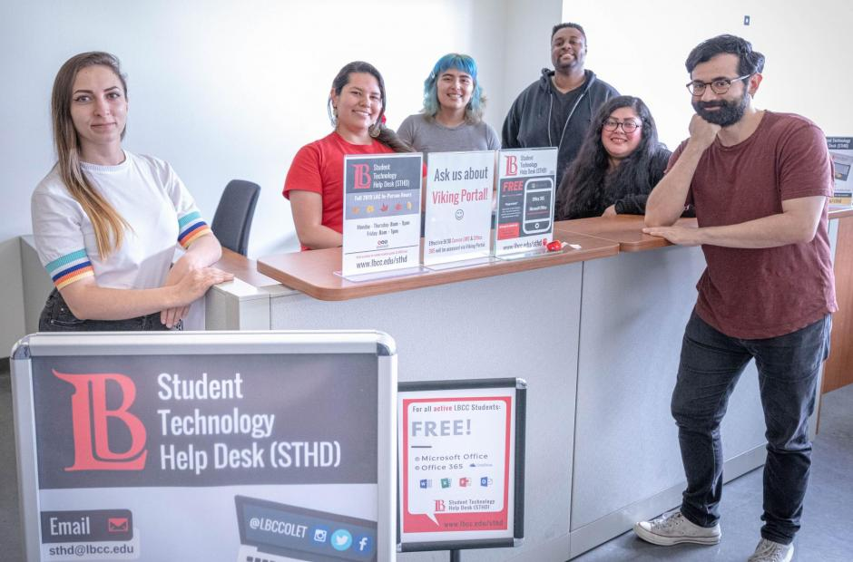 Photo of Student Technology Help Desk Team