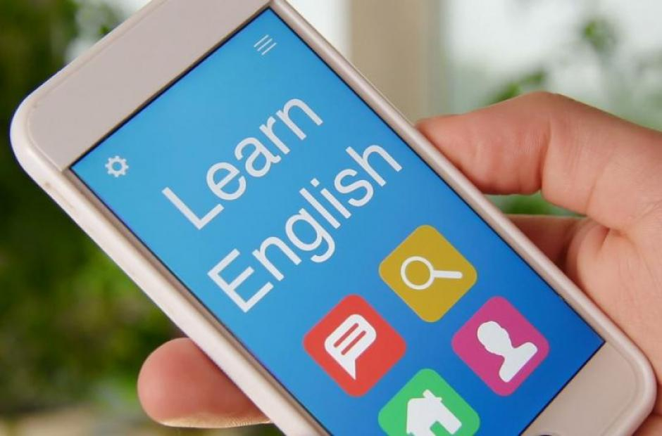 Learn English with cell phone