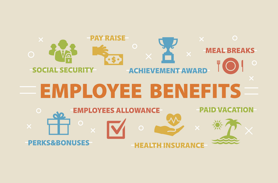 An infographic for employee benefits.