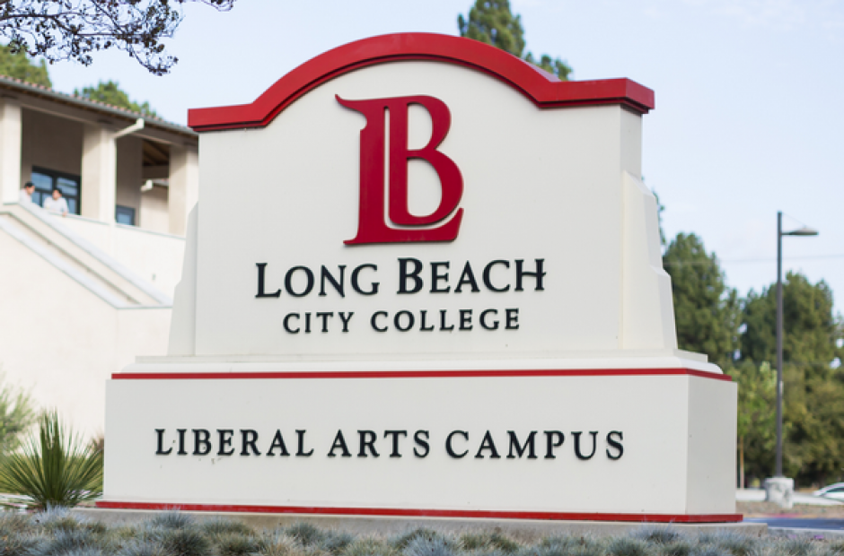 The sign for Long Beach City college.