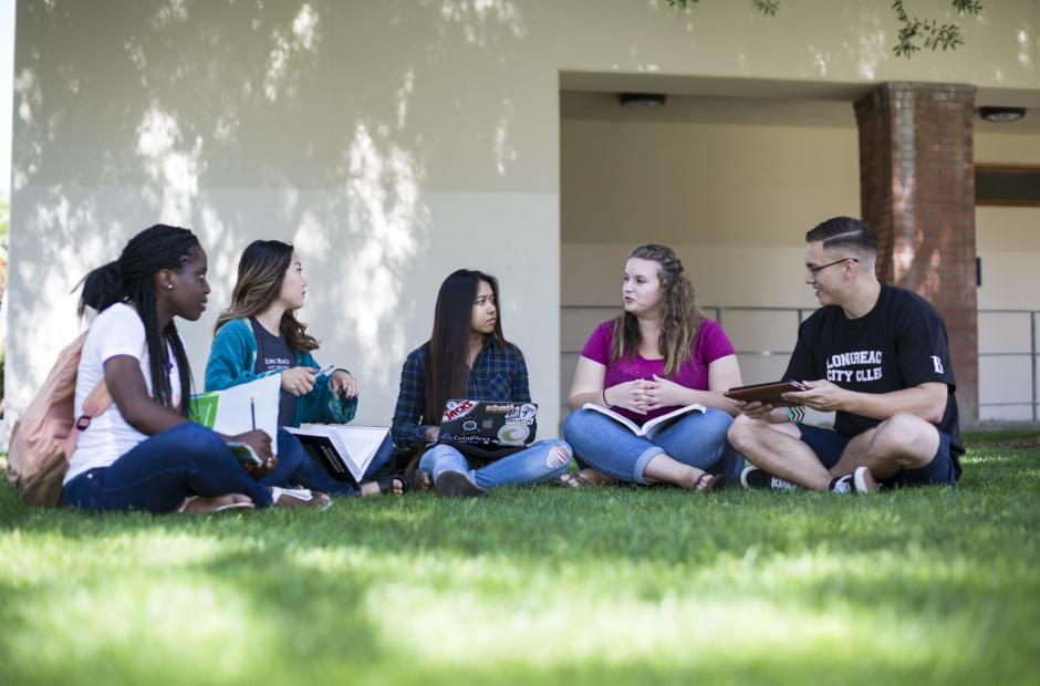 LBCC Student Body discussing on campus