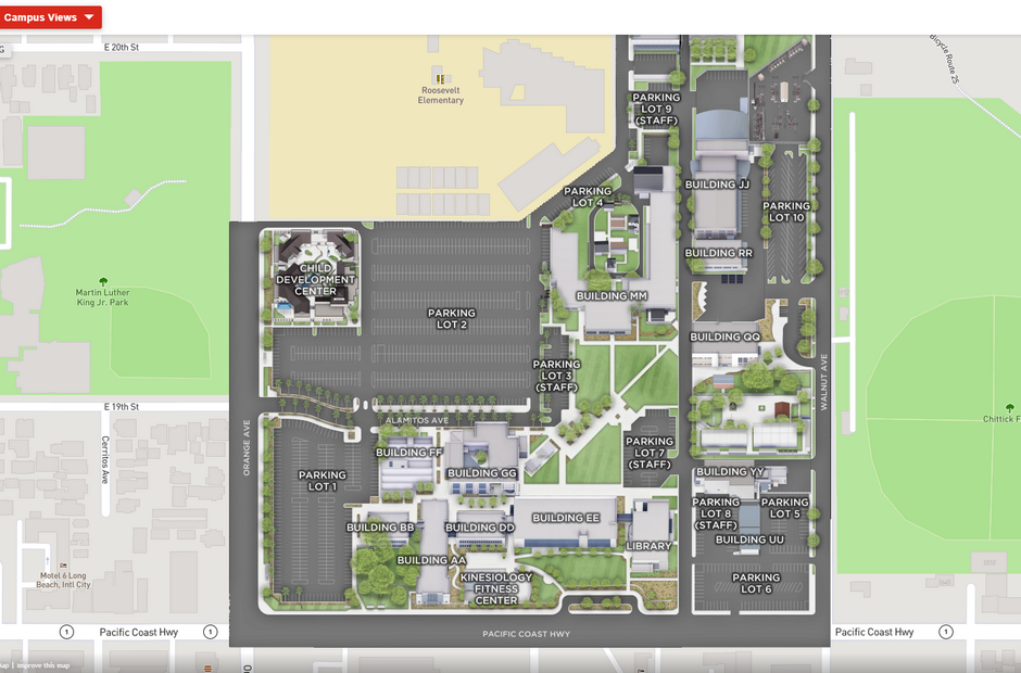 A virtual map of the PCC Campus.