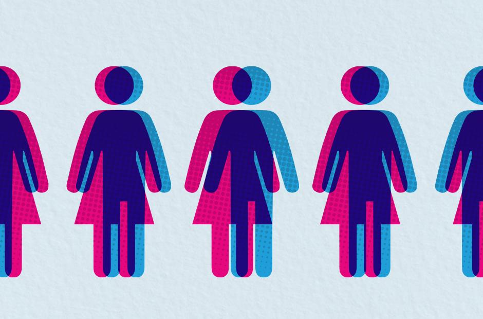 A series of alternating gender-neutral icons.