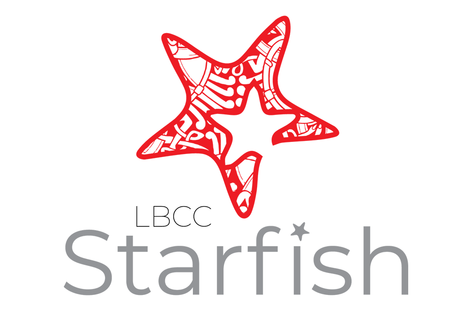 "The LBCC ""starfish"" logo."