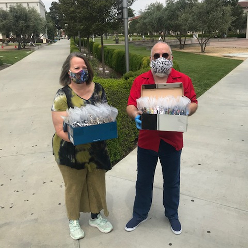 LBCC staff donating masks.