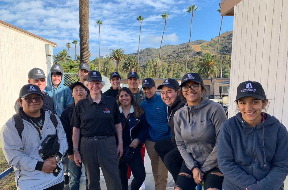 LBCC students on Catalina Island.