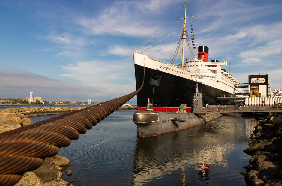 A photo of the Queen Mary by Ernest Romero.