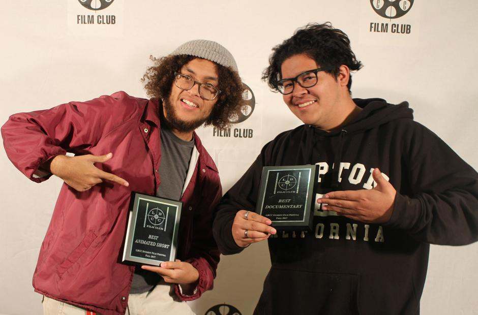 LBCC Film students receiving awards.