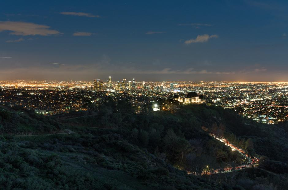 A photo of the Griffith Observatory by Jorge Caceres.