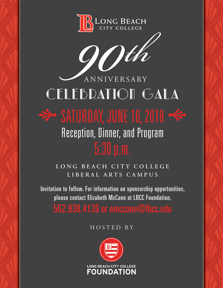 An invitation to LBCC 90th Anniversary.