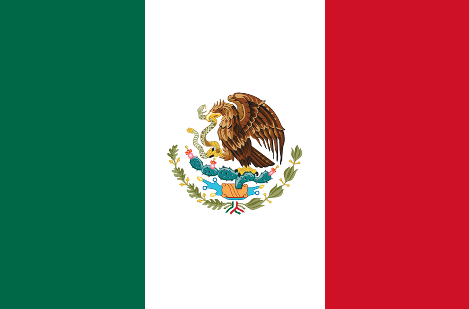 The official flag of Mexico.