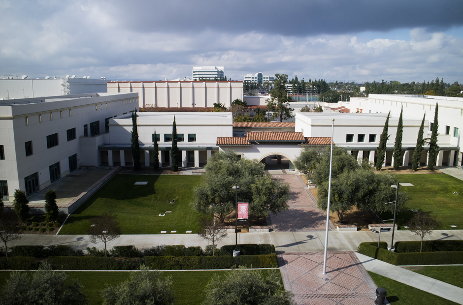 A shot of the LAC campus from a high vantage point.