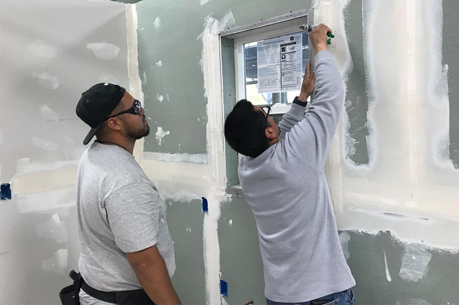 LBCC Construction Technology Students painting walls