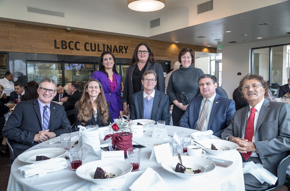 LBCC and Port members at the Viking Bistro on campus.