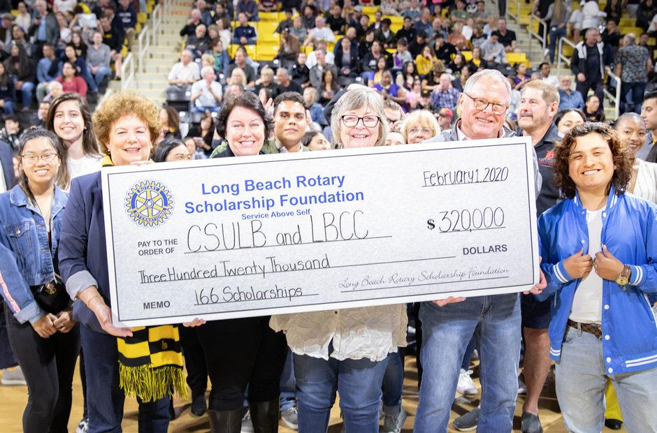 LBCC and CSULB staff hold a check for $320.000.