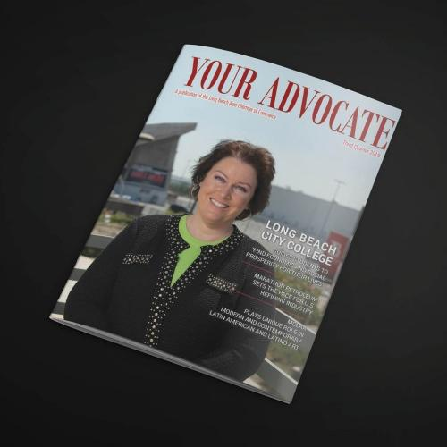 The cover of Your Advocate magazine.
