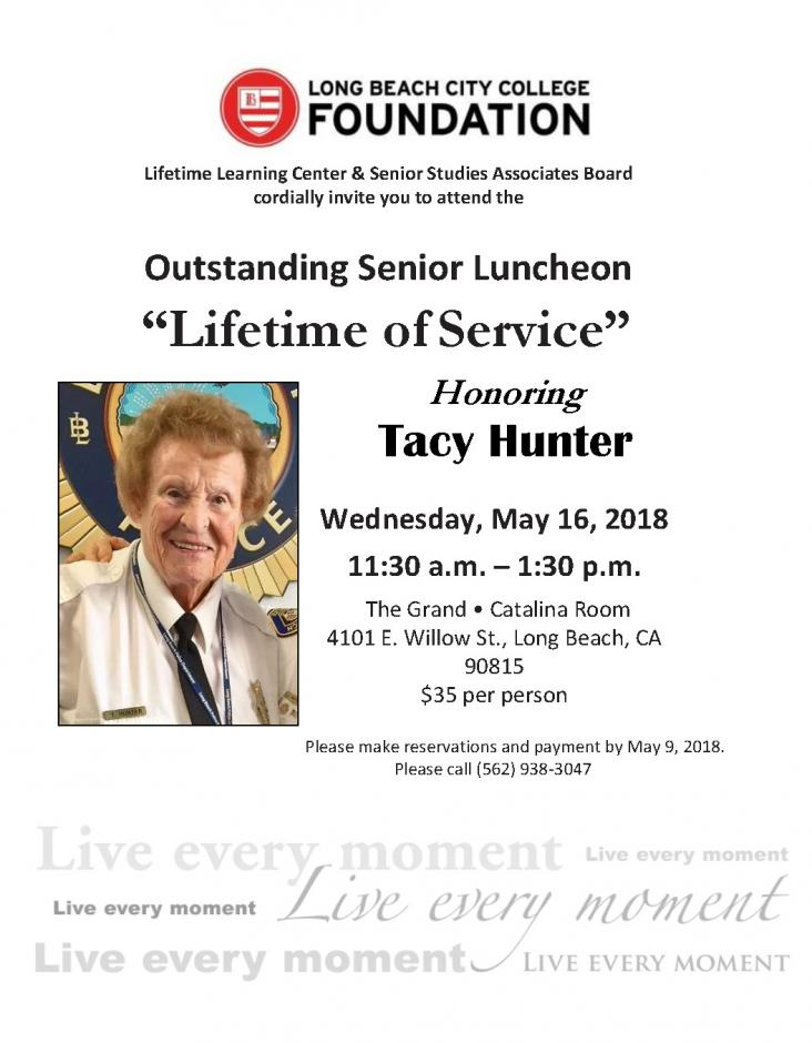 "Outstanding Senior Luncheon ""Lifetime of Service"""