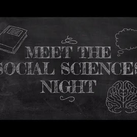 Meet the Social Sciences Night