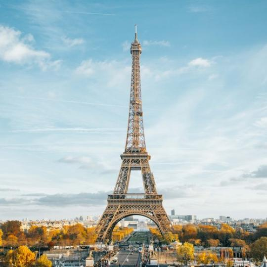 The Eiffel Tower in Paris.