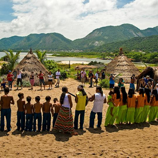 Tupi Guarani Indians lived in a village on the Camboninha beach in Niteroi